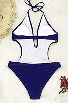 CUPSHE Womens Hermosa Love Self Tie Halter Lace One-Piece Swimsuit