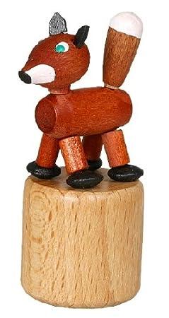 Wackeltier Fuchs Wackelfigur Seiffen Erzgebirge Spielzeug 105//037 NEU Drücketier
