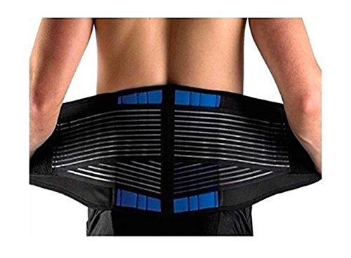 Deluxe Neoprene Double Pull Lumbar Lower Back Support Brace Exercise Belt (4XL : (Neoprene Pull)