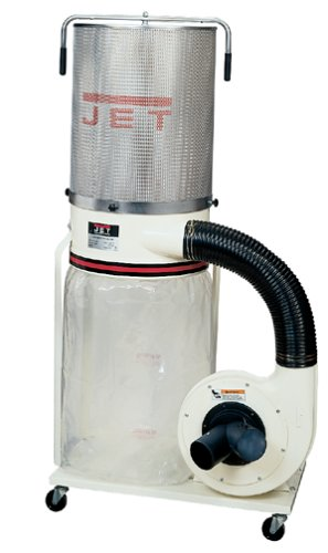 JET 708626CK DC-1100CK 1-1/2-Horsepower 1,100 CFM Canister Dust Collector, 115/230-Volt 1-Phase 1 Phase Dust Collector