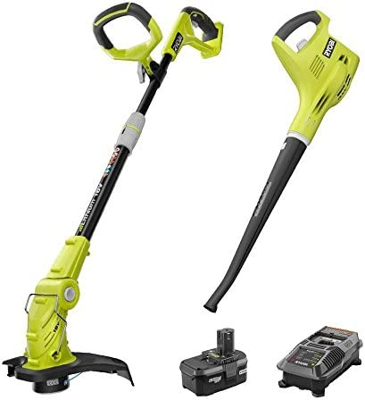 Ryobi P2013 ONE 18-Volt Lithium-ion String Trimmer Edger and Blower Sweeper Combo Kit