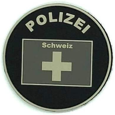 Parche de goma de la polic/ía de Suiza