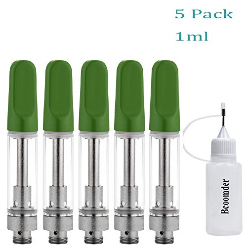 (5 Pack 1ml Wickless Ceramic Cell Cartridge Acessaries for C-C-E-L-L (Green))