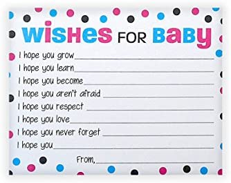 Amazon Com Wishes For Baby Cards Pink And Blue Polka Dots Boy
