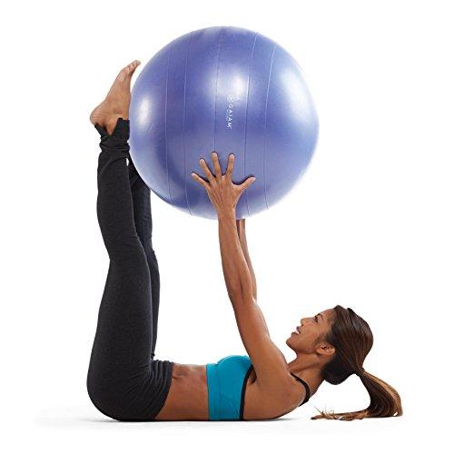 Balance Ball Dvd: Gaiam Total Body Balance Ball Kit With Pump & DVD