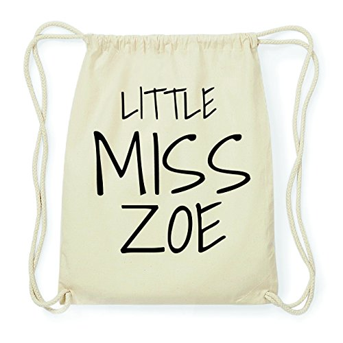 JOllify ZOE Hipster Turnbeutel Tasche Rucksack aus Baumwolle - Farbe: natur Design: Little Miss