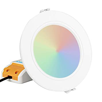 Downlight Milight Dimmable À Dalle Led Contrôle Zerodis Ronde mO8nwyN0v