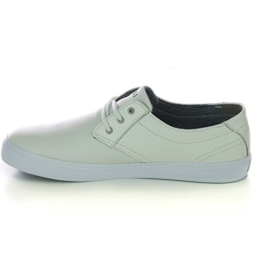 Lakai - Zapatillas de skateboarding de Piel para hombre Blanco blanco blanco