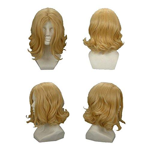 Xcoser Hetalia France Francis Bonnefeuille Cosplay Short Curly Golden Wig For (France Halloween Hetalia)