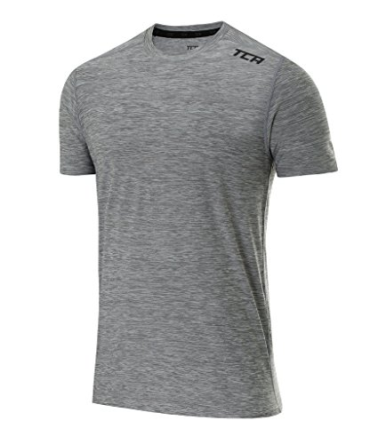 TCA Men's Galaxy Short Sleeve Training Top - Cool Gray, S