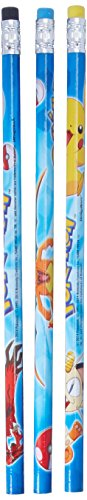 Amscan Electrifyingly Cute Pikachu & Friends Birthday Party Printed Pencils Favour, Pack of 12  Wood Children's Favor-Sets, Blue, Length: 7 3/8 inches by Amscan (Image #3)