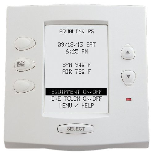 Zodiac 7953 Complete White Surface and Flush Mount Replacement for Zodiac Jandy AquaLink RS OneTouch Control Panel