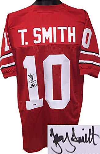 info for defac e2842 Troy Smith Autographed Ohio State Buckeyes Red Custom ...