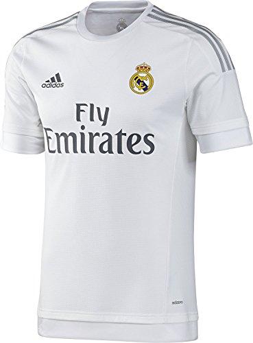 ずんぐりした郊外寝てるadidas Real Madrid Home Soccer Jersey 2015 YOUTH/サッカーユニフォーム レアル?マドリード ホーム用 背番号なし 2015 ジュニア向け
