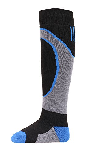 Kids Child Ski Socks Lightweight Warm Merino Wool Over the Calf Skiing Socks S