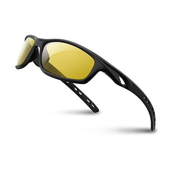 RIVBOS Polarized Sports Sunglasses Driving Sun Glasses Shades for Men Women Tr 90 Unbreakable Frame for Cycling Baseball Running Rb833