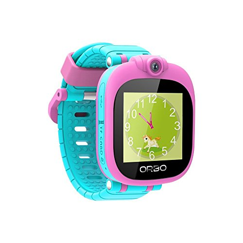 Orbo Kids Smartwatch with Rotating Camera, Bluetooth Phone Pairing and Games - Pink