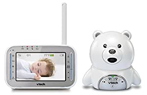 VTech VM346 Bear Video Baby Monitor with Automatic Infrared Night Vision, Soothing Sounds & Lullabies, Temperature Sensor & 1,000 feet of Range