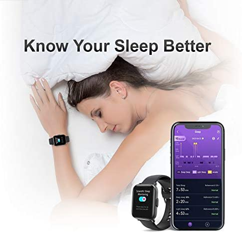 Smart Watch, UXD Fitness Activity Tracker with Sleep Heart Rate Monitor for Men Women 5ATM Waterproof Pedometer Smartwatches for iPhone Samsung Android Phones 5