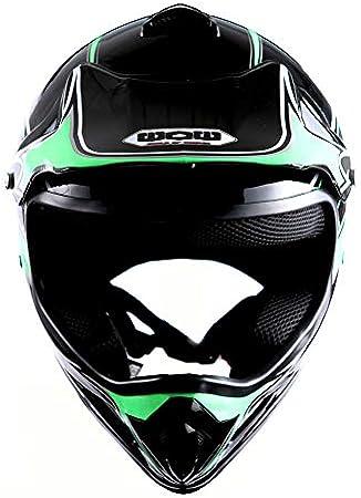 WOW Youth Kids Motocross BMX MX ATV Dirt Bike Helmet Spider Blue
