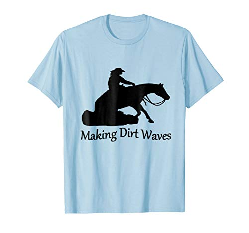 Blue Reining Horse - Reining Horse Making Dirt Waves T-Shirt's