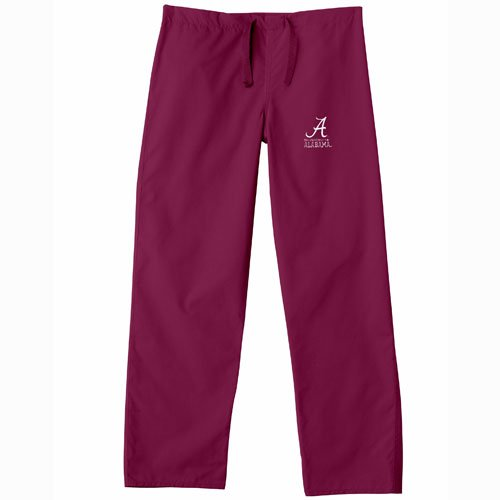 Alabama Scrubs (Alabama Crimson Tide NCAA Classic Scrub Pant (Crimson) (Large))