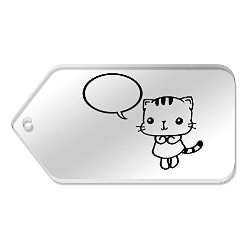 X 10 Large 99 tg00021548 Mm Cancella 51 'cat' Tag Azeeda Of 5RxPawqa