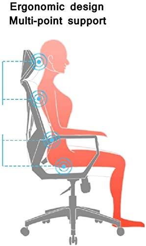 Mesh hem kontorsstol, mellanrygg dator skrivbord svängbar stol ergonomisk verkställande uppgift stol med armstöd knästol