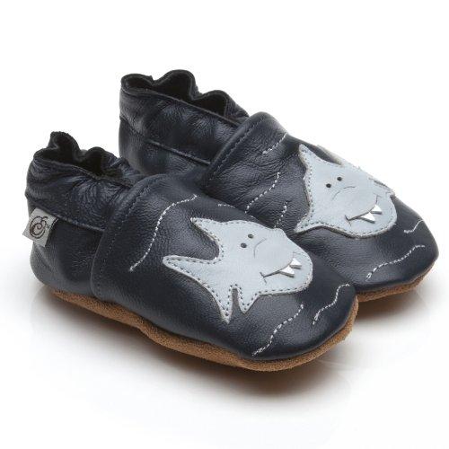 Suaves Zapatos De Cuero Del Bebé Tiburón 12-18 meses
