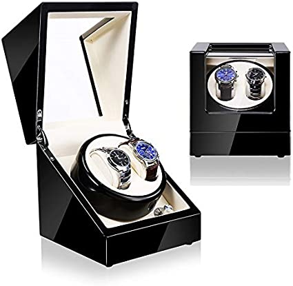Watch Winder (1 Motor 2 Relojes) Black-Cream. Caja Movimiento ...