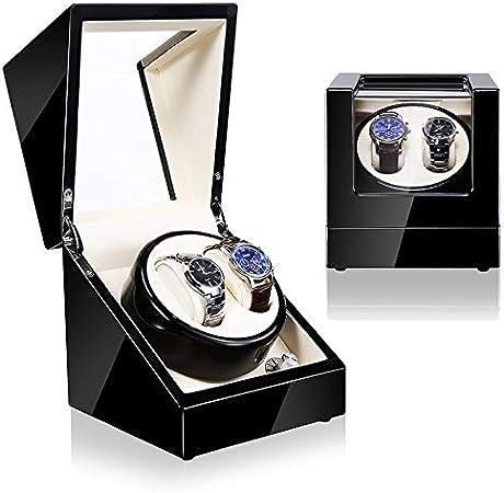 Watch Winder (1 Motor 2 Relojes) Black-Cream. Caja Movimiento Relojes automaticos: Amazon.es: Hogar