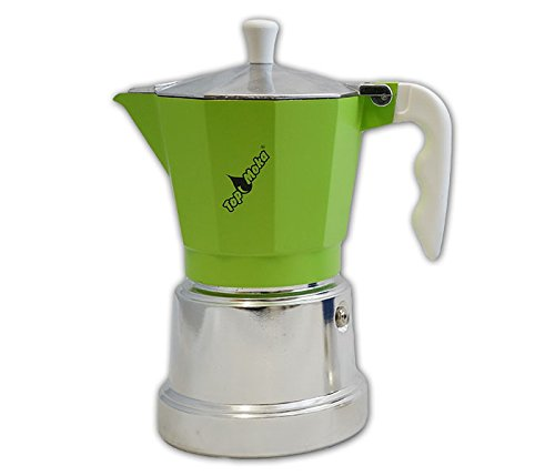 Top Moka Cafetera top06 Verde-Plata: Amazon.es: Hogar