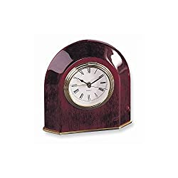Rosewood Finish Arch Table Clock