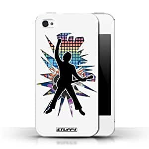 KOBALT? Protective Hard Back Phone Case / Cover for HTC One M7 | Windmill White Design | Rock Star Pose Collection