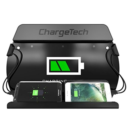 ChargeTech Wall Mounted Cell Phone Charging Station Dock ...