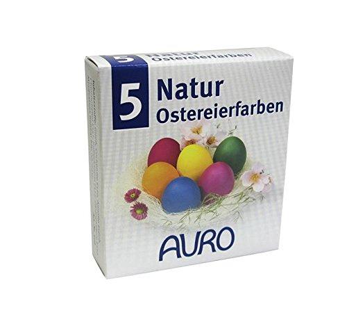 AURO Ostereierfarben aus Naturfarben (5 Farben) - Ostereier färben ...