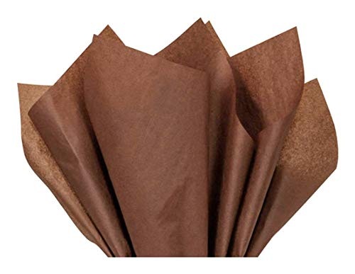 Raw Sienna Bulk Tissue Paper 20 Inch x 30 Inch - 48 XL Sheets by Buttons Bags and Bows