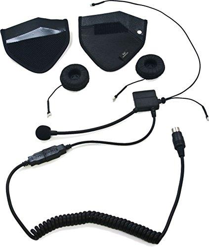 iMC Motorcom HS-H170P Speaker Pouch Half-Helmet Headset for 7 Pin Harley Davidson Audio Systems