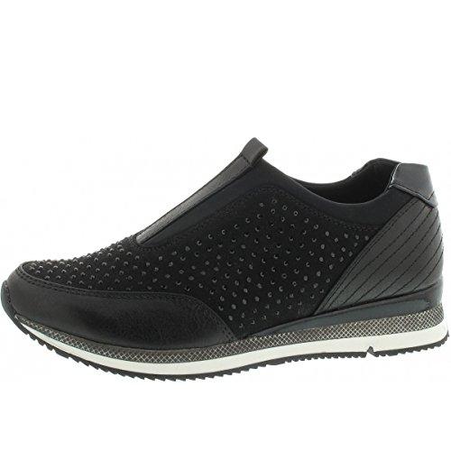 Mujer Zapatillas Marco Tozzi 24710 Black Negro UFxzE
