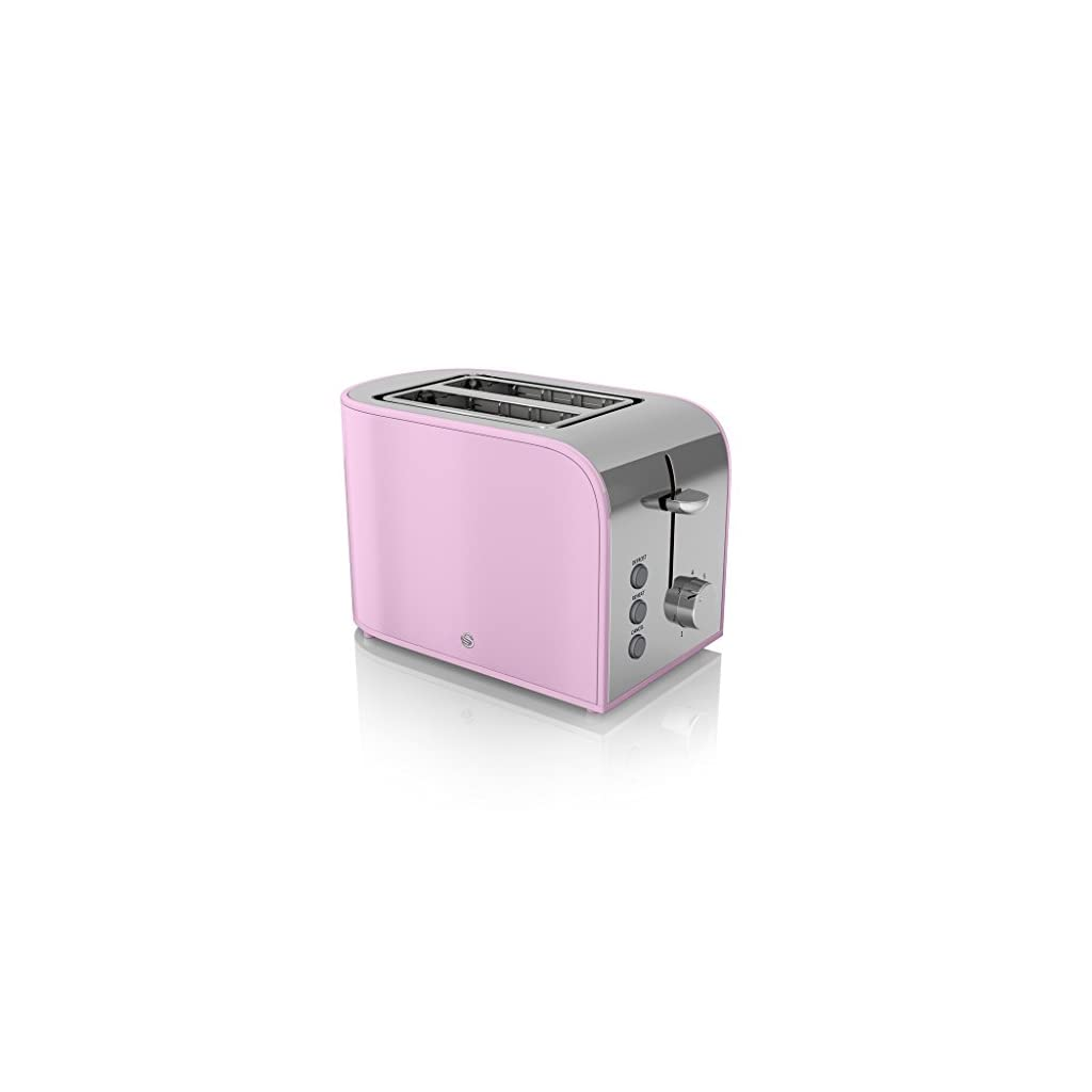 Swan ST17020PN 2-Slice Retro Toaster, 800 W, Pink