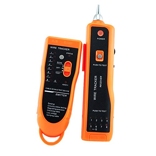 Zinnor Cable Tester Wire Tracker RJ45 RJ11Line Finder Handheld Cable Tester for Ethernet Network Cable Collation, Telephone Line Test, Continuity Checking by Zinnor (Image #8)