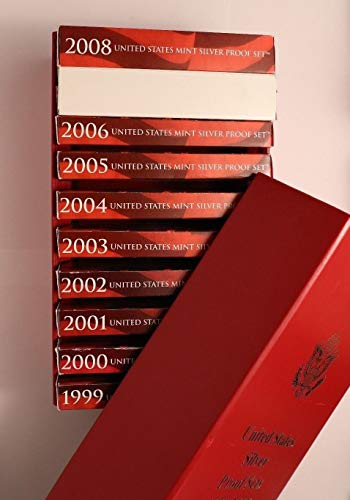 1999 S to 2008 Complete Set Silver Proof Sets - 109 Proof Coins - Mint Issued -90% - Complete - OGP plus Storage (1999 Silver Proof State Quarters)