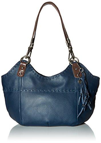 The Sak Indio Satchel, Indigo (Blue Leather Handbags)