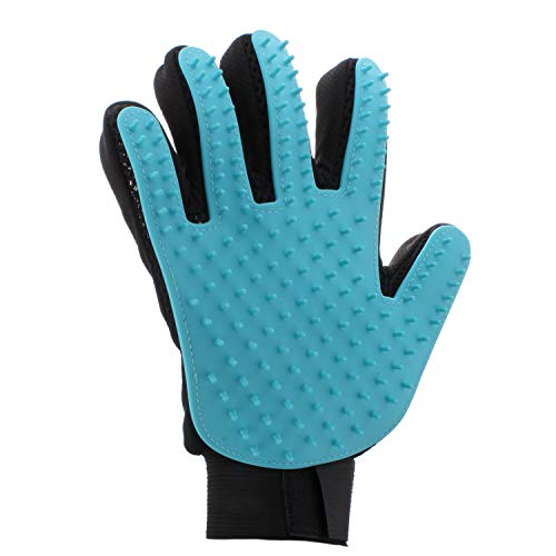 Groomist Grooming Glove, Pet Brush Gloves for Dogs and Cats | One Size Fits All Pet Grooming Glove with Soft Rubber Pins