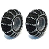Raisman Pack of Two 15x6.00-6 Zinc Plated Tire Chains (2 Link)