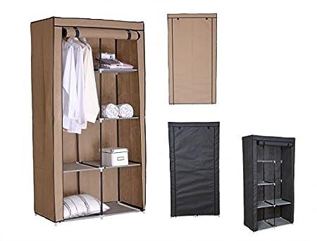 folding fabric wardrobe 4 designs available 2 colour schmaler kleiderschrank grau beige - Schmaler Kleiderschrank