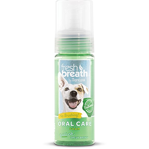 Tropiclean Fresh Breath Pet Mint Foam Plaque Remover 4.5oz