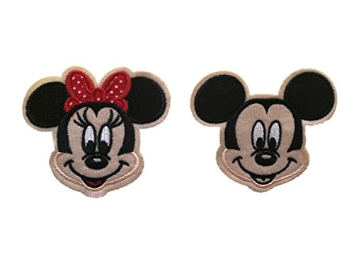 Mickey Iron Mouse - Embroidered Iron/sew on Patch Cloth Applique Collectible Disney Patches (Mickey&Minnie)