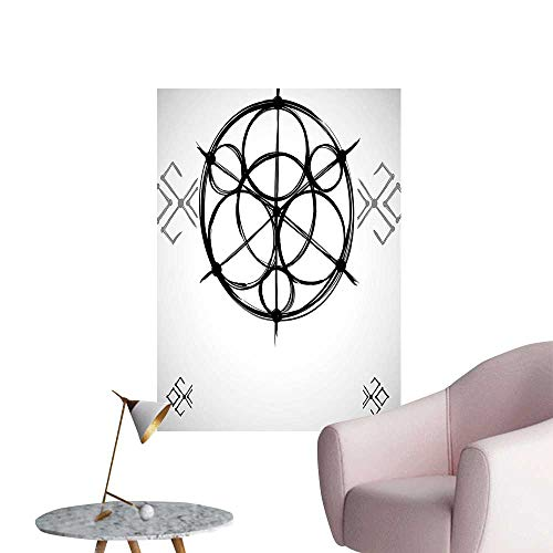 Wall Decoration Wall Stickers Sketchy Geometric Plan Swirled Origins Cosmos Universe Print Artwork,32