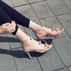 hexiajia - Zapatos Planos con Cordones mujer Beige